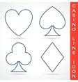 Casino line icon vector image vector image