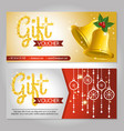 Christmas gift voucher gift card vector image