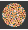 Circle of Flower vector image