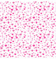 colorful seamless pattern of cute hearts can be vector image
