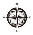 compass rose wind nautical equipment isolated vector image vector image