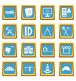 construction icons azure vector image vector image