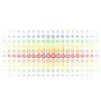 cooperation spectral halftone grid vector image vector image