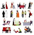 Couples People Flat Set vector image vector image