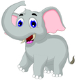 Cute elephant cartoon for you design vector image