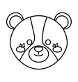cute little bear animal character vector image