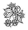 Decorative Cherry Branch vector image vector image