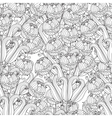 decorative seamless black and white flowers vector image vector image
