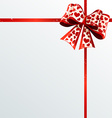 Festive ribbons and bow vector image vector image