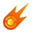 fireball comet icon vector image