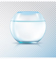 fish bowl clear water transparent vector image vector image