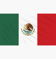 flag mexico swaying in wind realistic vector image