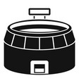 football arena icon simple style vector image vector image