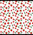 fruit and ladybug seamless pattern design on vector image
