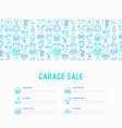 garage sale concept with thin line icons vector image vector image