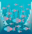 Glowing fish floating vector image