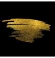 Gold sparkles on black background Gold glitter vector image vector image