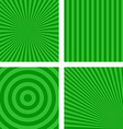 Green simple striped pattern background set vector image vector image