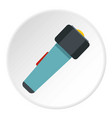 hand flashlight icon circle vector image vector image