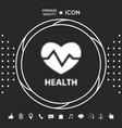 heart symbol - halftone logo graphic elements vector image