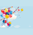 holiday balloons fly vector image