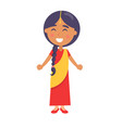 indian smiling girl wishes happy childrens day vector image vector image