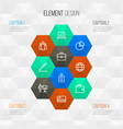 job outline icons set collection of team vector image vector image