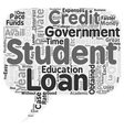 Key Benefits of Private Student Loans text vector image vector image