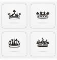king crown symbol vector image vector image