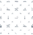 landscape icons pattern seamless white background vector image vector image