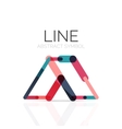 Linear abstract logo connected multicolored vector image