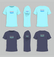 mens tshirt design template vector image vector image