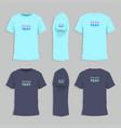 mens tshirt design template vector image vector image