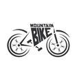 mountain bike logo abstract bike logo vector image