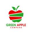 natural apple logo design