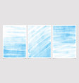 natural edge blue brush stroke watercolor vector image vector image