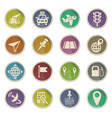 navigation ransport map icon set vector image