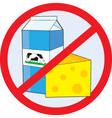 no dairy vector image