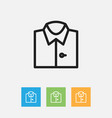 of shopping symbol on shirt vector image vector image