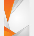orange grey abstract tech corporate background vector image vector image