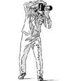 person takes picture vector image vector image