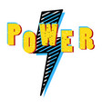 power word in pop art bright colors shirt print vector image vector image