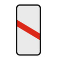 railway crossing icon flat style vector image