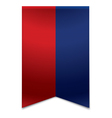 Ribbon banner - flag of liechtenstein vector image