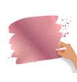 rose gold glitter banner vector image vector image
