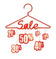 Sale hanger vector image vector image