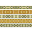 seamless decorative borders vector image vector image