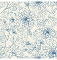 Seamless floral pattern with chrysanthemums vector image