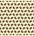 seamless pattern of coffee beans on a cream vector image vector image