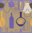 seamless pattern with bottles and kettles vector image